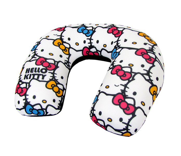 Photo: Hello Kitty Adult Travel Pillow: Bright Bows - $29.95 http://bit.ly/HLZuxw