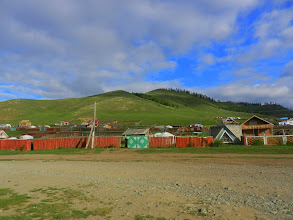 Photo: This is Terelj Village, a 2.5-hour bus ride from Ulaanbaatar. This is where my first host family picked me up and my last host family dropped me off (after fording a river in an oxcart).