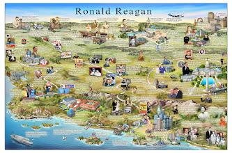 Photo: 2013 Biographical map of Ronald Reagan