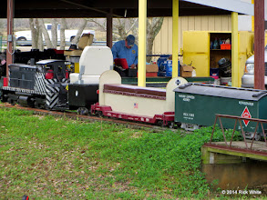 Photo: Gary Brothers loco on the slope while the steaming bays are in the back ground.     HALS Chili Fest Meet 2014-0301 RPW