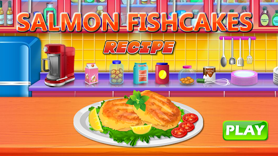 Make Salmon Fish Cakes Recipe – Cooking game 1.1 Mod + Data Download 1
