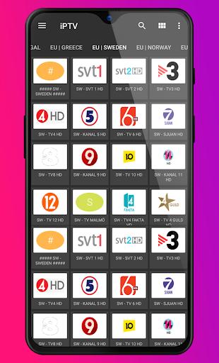 iPTV TV Player m3u for Android screenshot 2