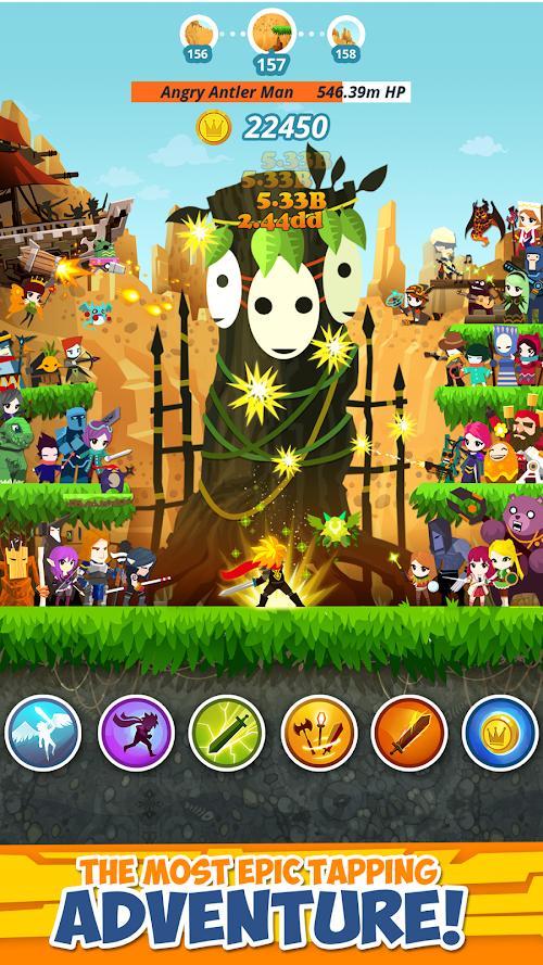 Screenshot 2 Tap Titans 2 2.11.2 APK MOD