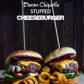 Bacon Chipotle Stuffed Cheeseburger.