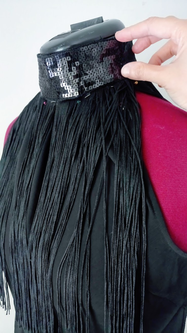 In-Progress: DIY Halter Top with Fringe, Sequin, Lace Embellishments - DIY Fashion | Fafafoom.com