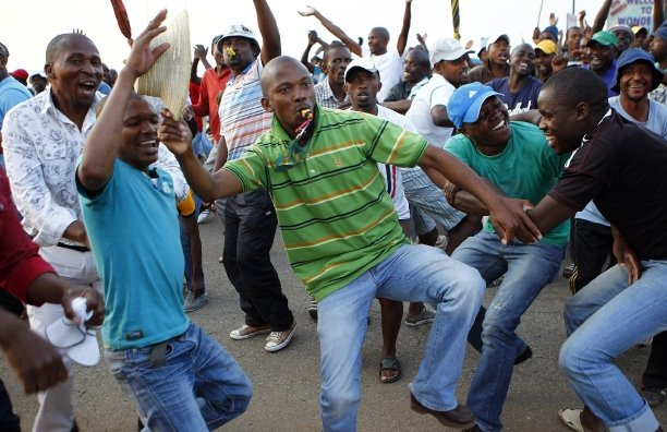 "Singing ""hit the boer"" while striking is not racially offensive, says court. Picture: REUTERS"