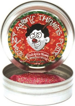 Crazy Aaron's Thinking Putty Toy - Glow in The Dark, Amber