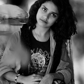 Mood by Rajib Chatterjee - Black & White Portraits & People