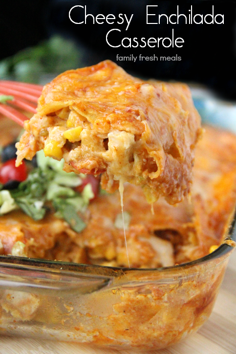 Click Here for Recipe: Cheesy Chicken Enchilada Casserole We love us a...