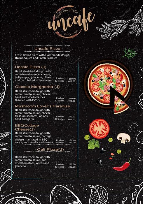 Uncafe menu 2