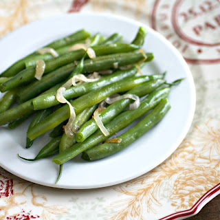 Fresh Ginger and Shallot Green Beans