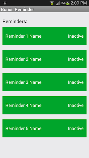Bonus Reminder