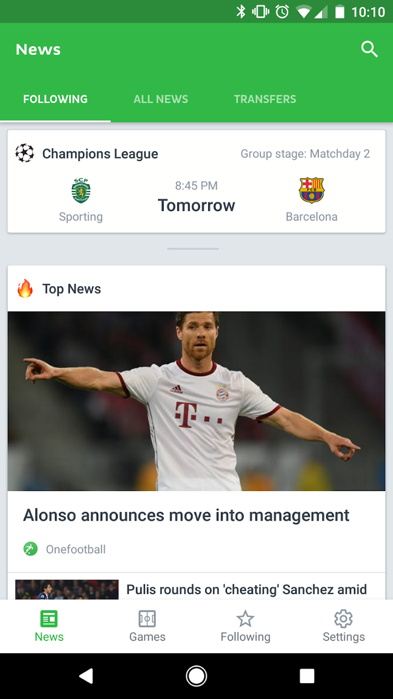 Onefootball Live Soccer Scores Screenshot