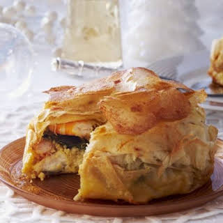 Spanish Filo Bake with Seafood.