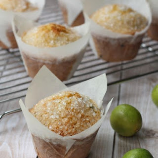 Key Lime and Blueberry Corn Muffins