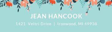 Jean Hancook - Address Label template