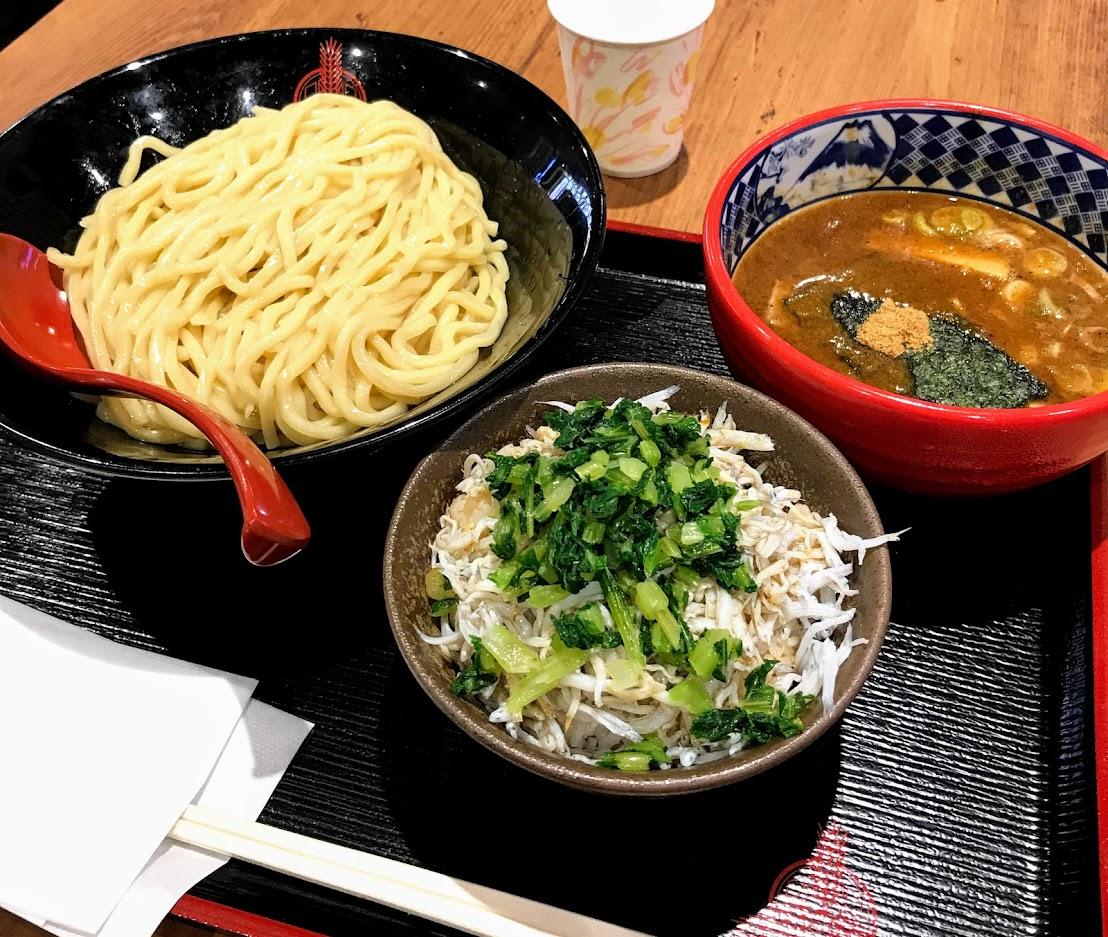 つけ麺&しらすご飯