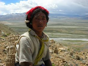 Photo: Tibetan herdsman outside of Tingri