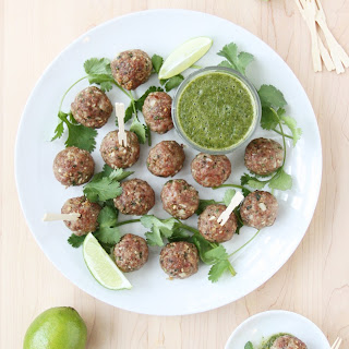 Indian Lamb Meatballs with Mint, Coriander, and Lime Chutney Recipe