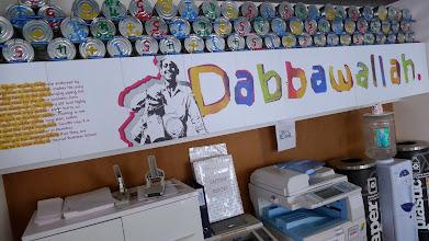 Photo: Dabbaawallah at Google Mumbai.  Read: http://en.wikipedia.org/wiki/Dabbawala