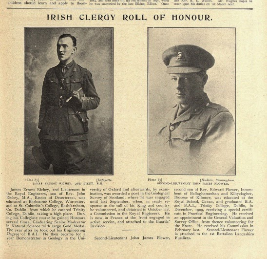 Photo: 2nd Lieut. James Ernest Richey & 2nd Lieut. John James Flower, 24 December 1915