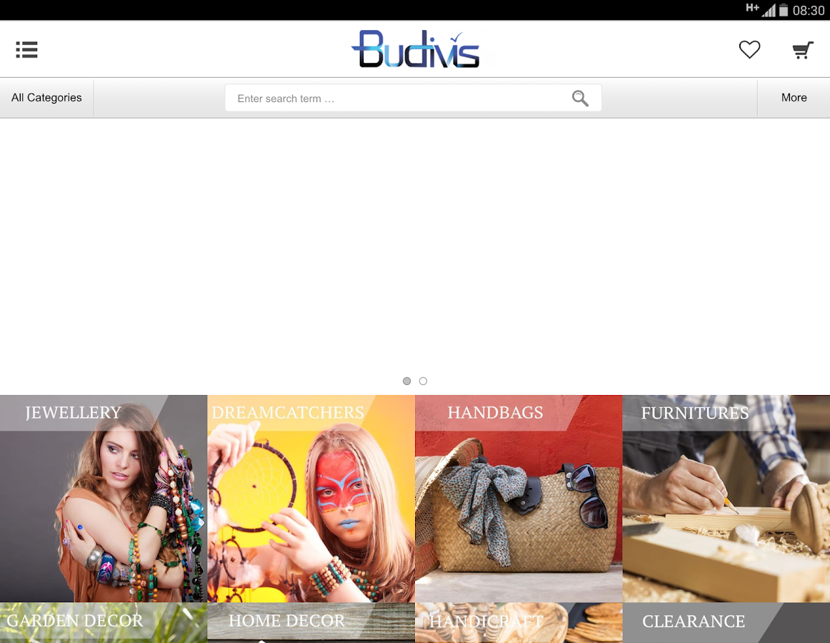 Budivis Web Store- screenshot