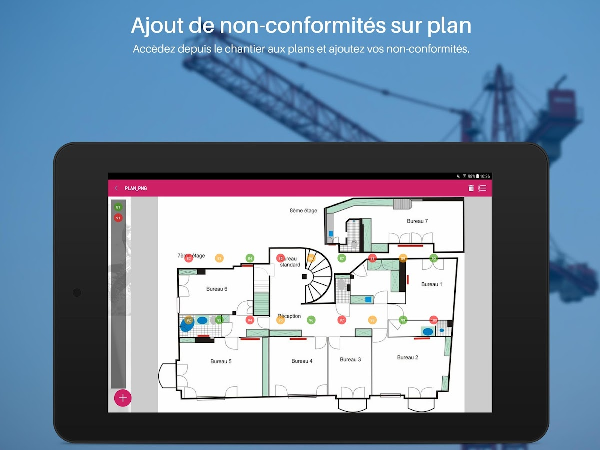 Batiscript suivi de chantier applications android sur for Application suivi de chantier
