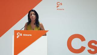 Marta Bosquet, de nuevo candidata nº1 de Ciudadanos por Almería al Parlamento andaluz.