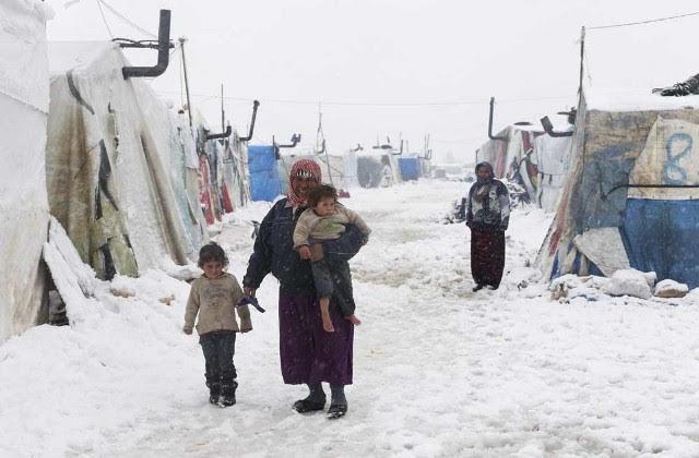 Guerra e invierno en Siria