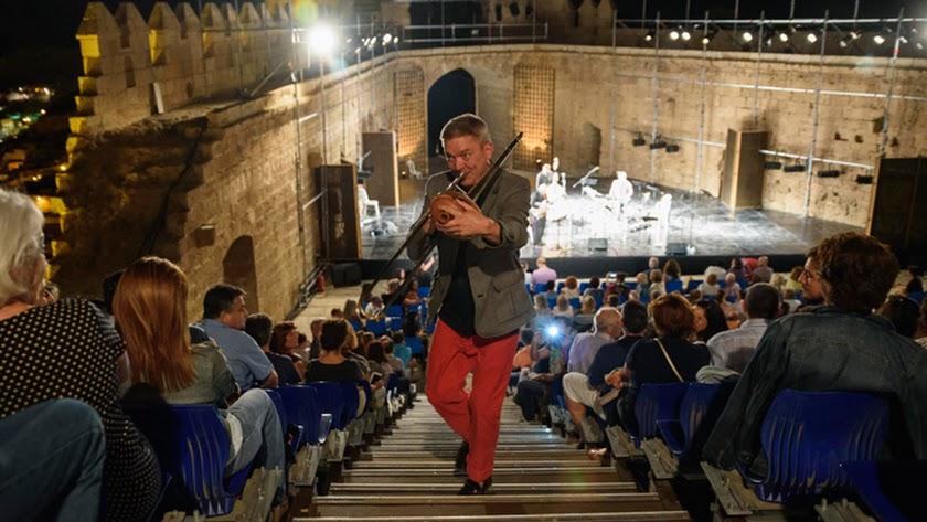 Vuelven los espectáculos a la Alcazaba de Almería. En la imagen, durante una actuación de las Jornadas del Siglo de Oro.