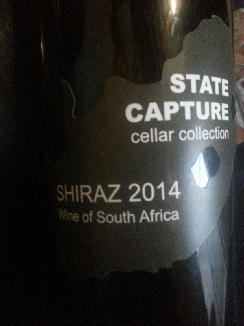 Coming to a Saxonwold Shebeen near you? Zama Mnikina teamed up with KapVino wine estate to produce a Shiraz named 'State Capture'.