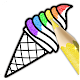 Glitter Ice Cream Coloring For Kids