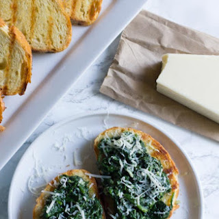 Spinach Asiago Bruschetta