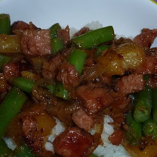 Pineapple Spam Stir Fry