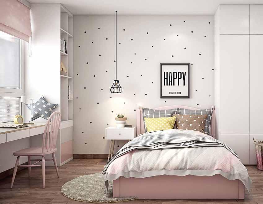 Kết hợp nhiều tông màu để tạo điểm nhấn cho căn phòng.
