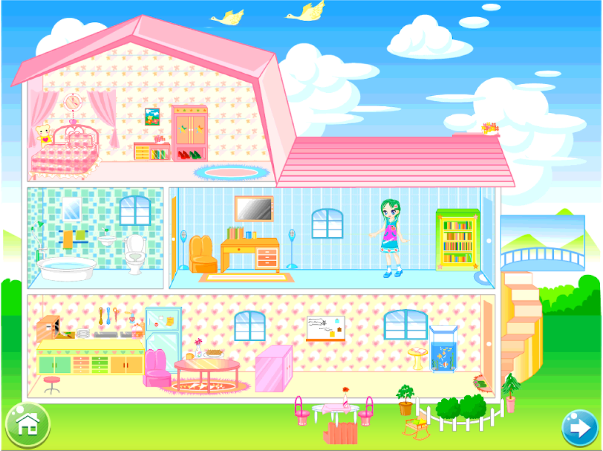 doll house decorating game screenshot - House Decorating Games