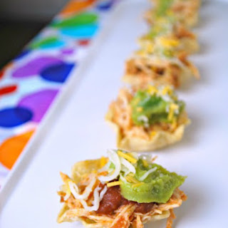 Chicken Taco Cups - Party Appetizer.