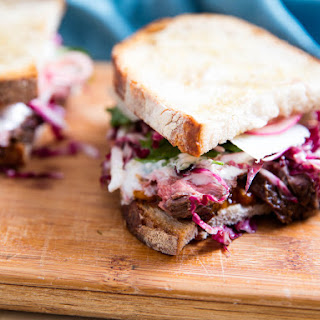 Steak Sandwiches With Roasted Tomatoes, Parmesan, and Radicchio