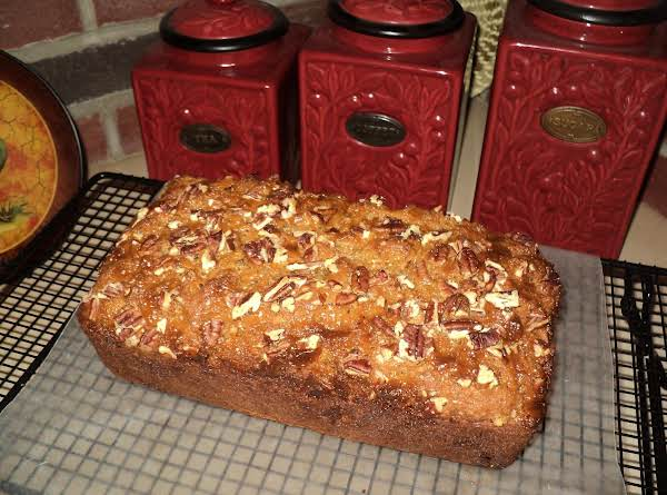 This Is The Finished Loaf Just Out Of The Baking Pan.  Made Just As Recipe Reads...i Have A 2nd Loaf That I Did Different.  See Other Pictures.