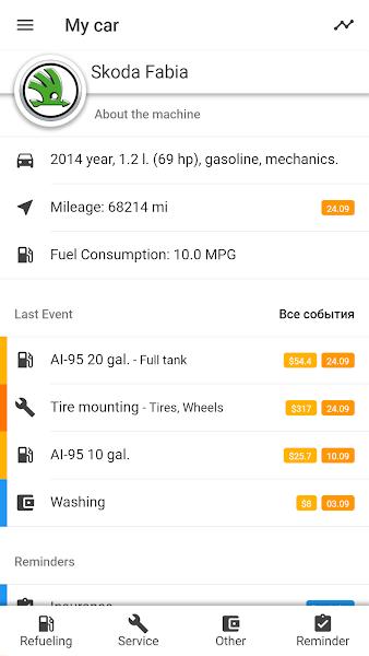 MyCar - Expenses