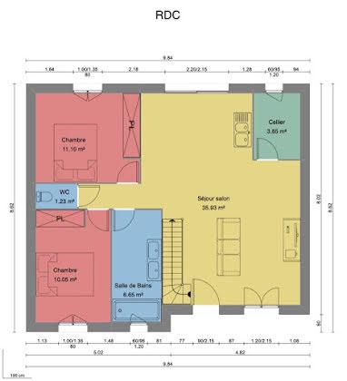 Vente maison 1 pièce 69 m2