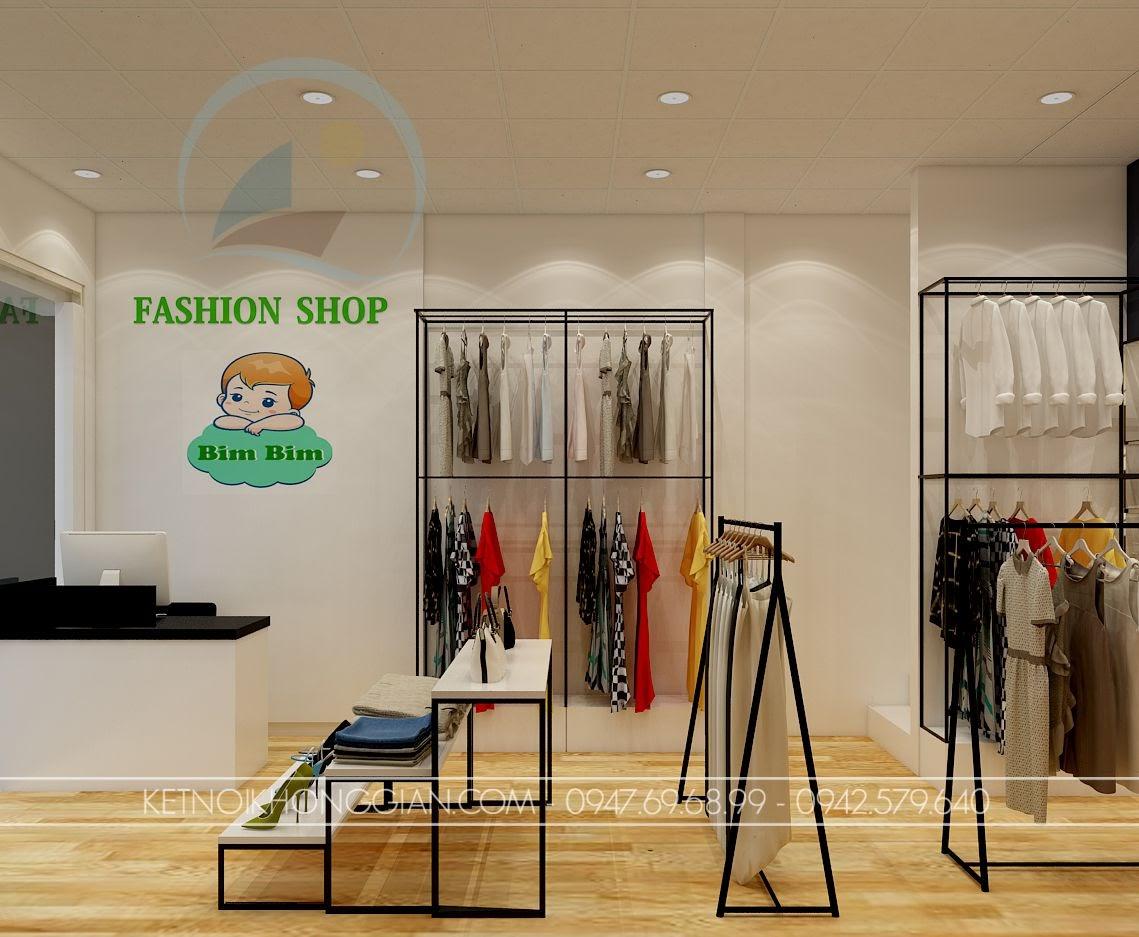 thiết kế cửa hàng thời trang mẹ và bé