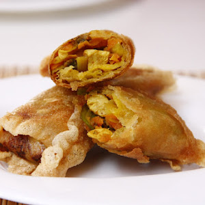 Savory Chicken and Curried Vegetable Pastry