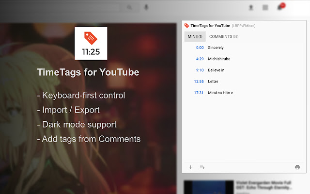 TimeTags for YouTube
