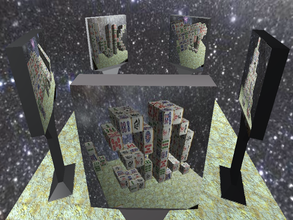 Mahjong 3D Cube Solitaire- screenshot