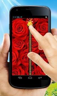 Rose Zipper Lock Screen - náhled