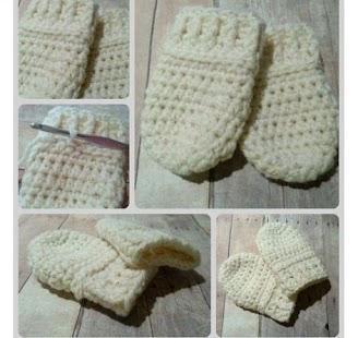 rukavice bez prstů pro miminka - náhled