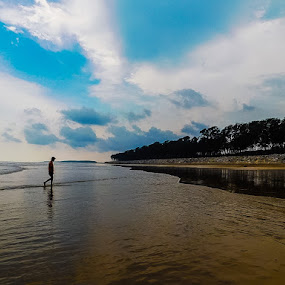 Alone  by Swati Mukherjee - Landscapes Beaches