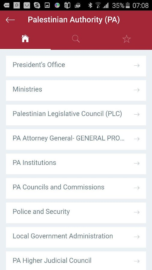 Palestine Directory- screenshot