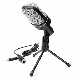 Microfon profesional Andowl QY-930, inregistrare vocala si karaoke, Negru